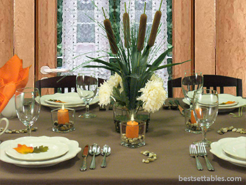 Cattails Table Decor