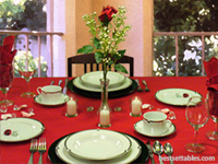 Red Romantic Rose Table Decor